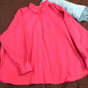Hot pink button-down shirt